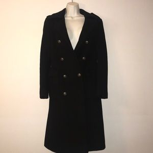 Wool militant trench coat